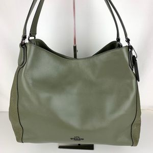New Coach Edie 31 Mixed Leather Shoulder Bag